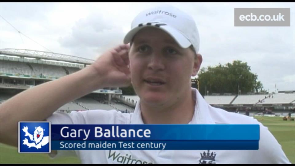 Ballance scores first Test ton