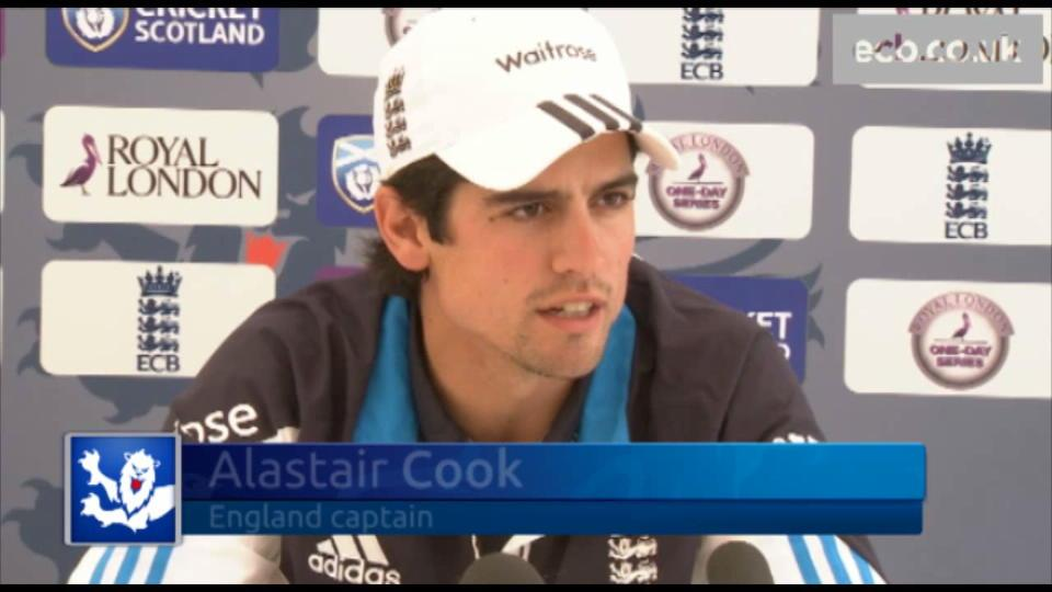 Cook happy with early signs
