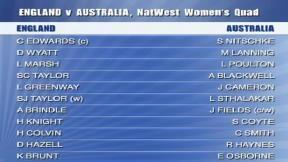 Eng Women v Aus Women - Wormsley