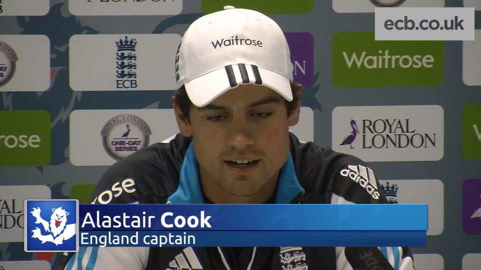 Alastair Cook happy with confident England