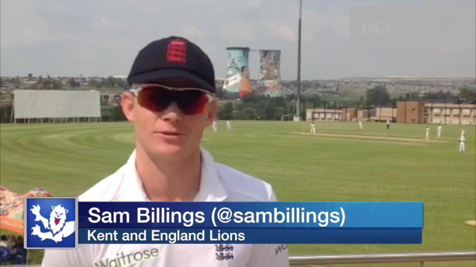 Kent star Sam Billings happy to show his worth for England Lions