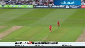 England v New Zealand - 3rd ODI highlights, New Zealand innings