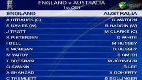 1st ODI - MCG - England innings