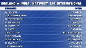 NatWest International T20 - Old Trafford - India Innings