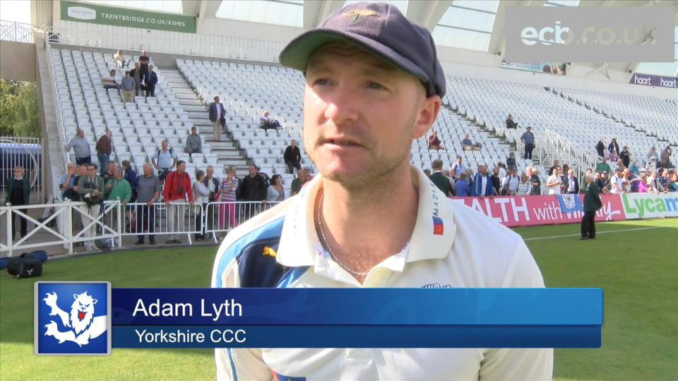 Lyth on the runs that helped Yorkshire win title