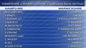 Clydesdale Bank 40 Final – Hampshire highlights
