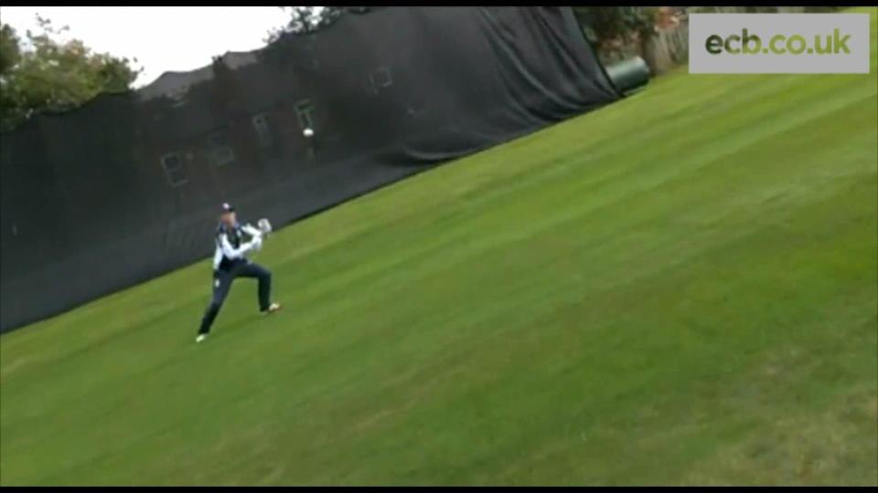 Amy Jones wicketkeeping session