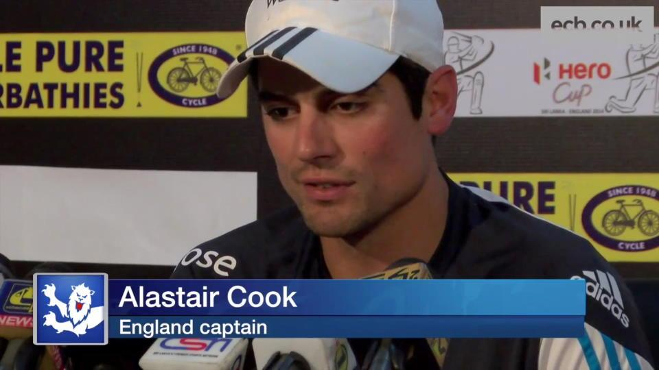 Cook on Hughes and first ODI