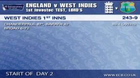 1st Investec Test - Lord's - Day 2 morning