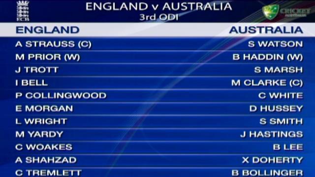 3rd ODI - SCG - England innings