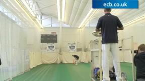 Stuart Broad nets with Michael Dawson