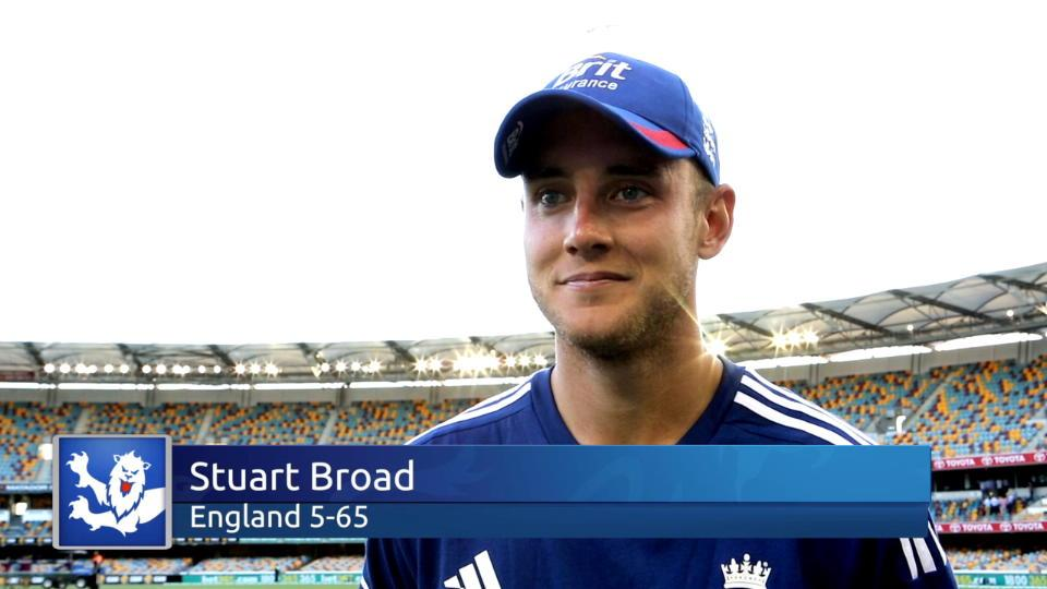 Broad delighted with England's day