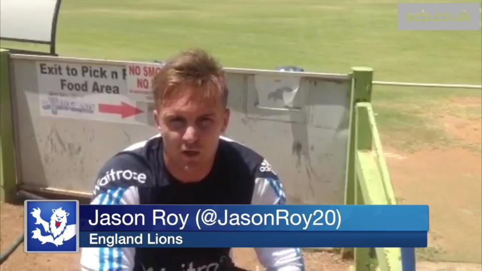 Jason Roy on England Lions, Big Bash and Kumar Sangakkara at Surrey