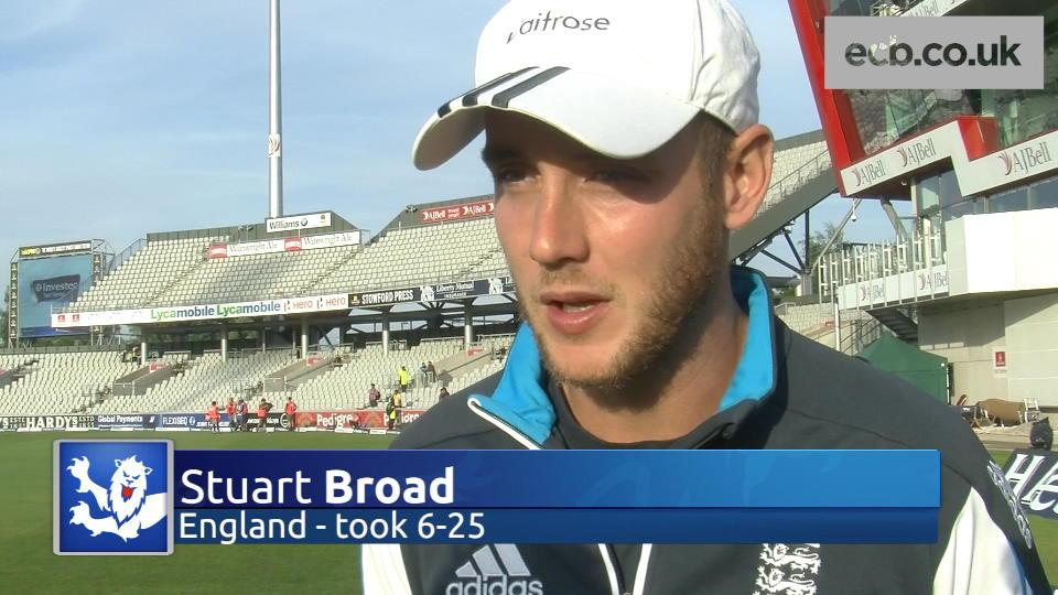 Stuart Broad hails 'perfect' day