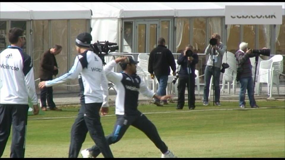 England training before Scotland ODI