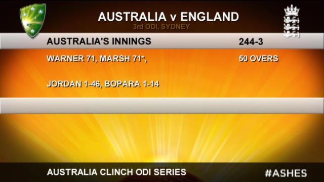 England v Australia: 3rd ODI, Sydney - Australia innings