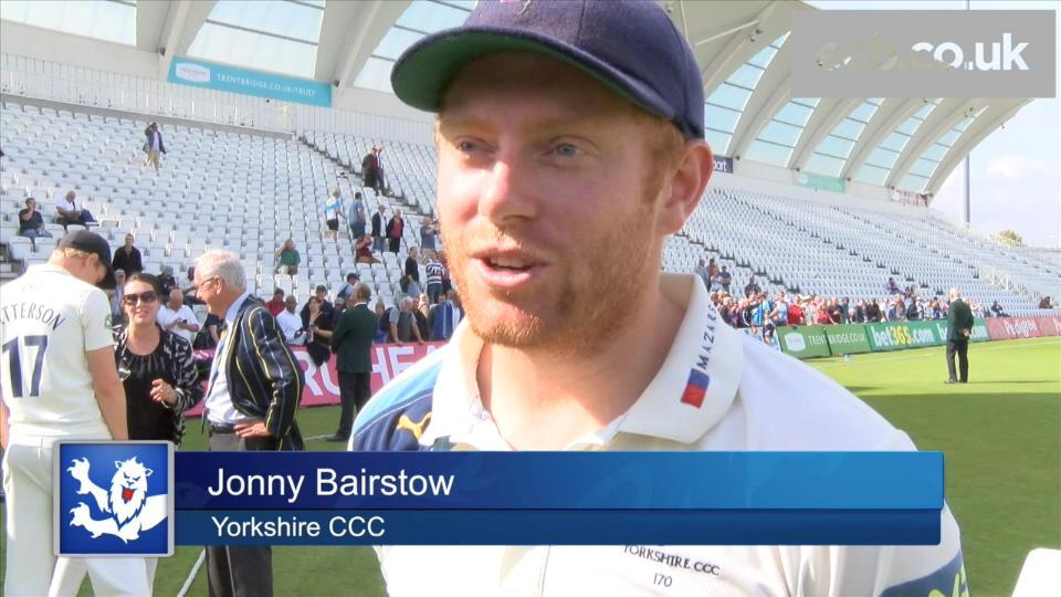 Special moment for the Yorkshire family says Bairstow