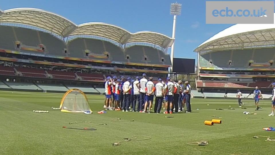 England training timelapse in Adelaide