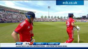 England v New Zealand - 2nd ODI highlights, England innings