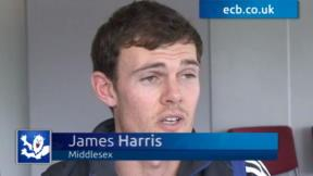 Harris thrilled with Middlesex move