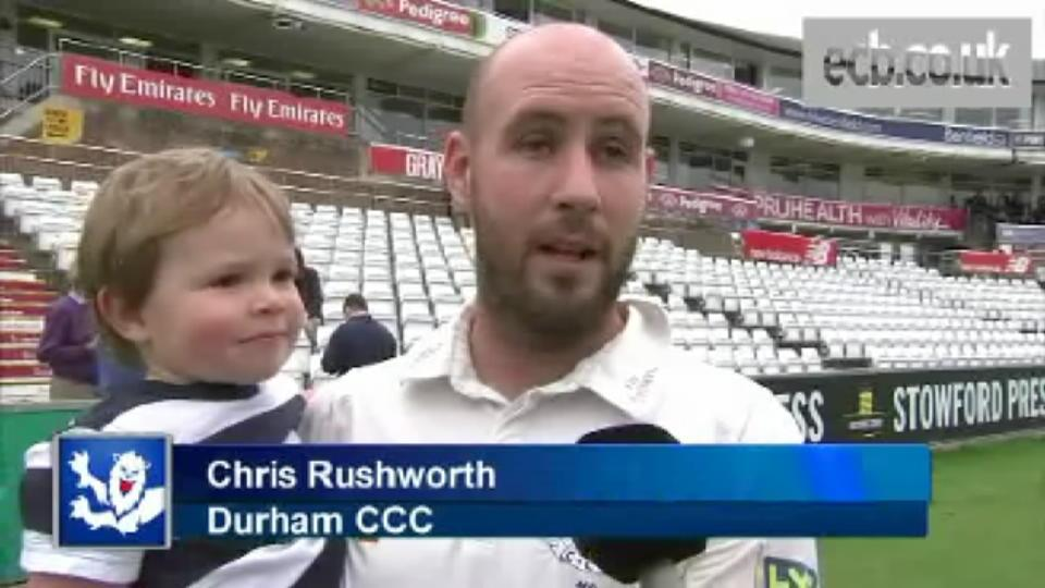 Rushworth on 15 wickets in a day