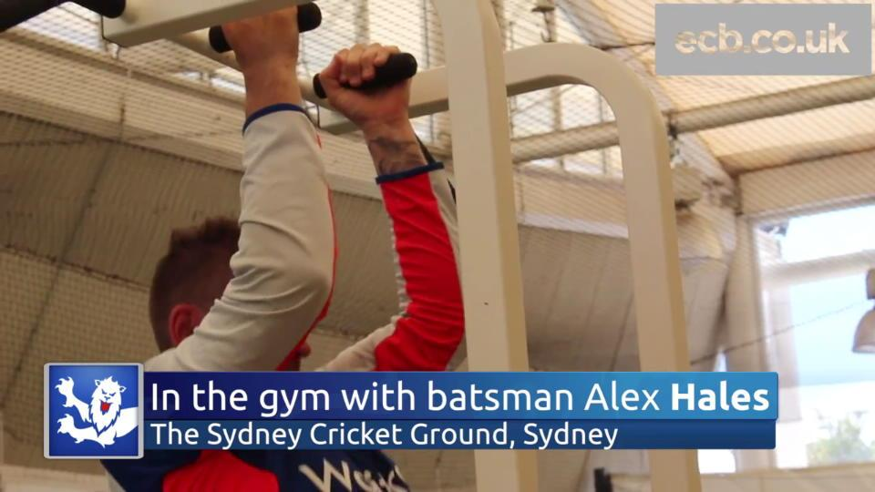 Beyond the wicket - strength & conditioning session with batsman Alex Hales