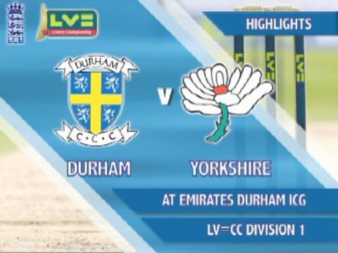 19 Aug - Durham v Yorks - Day 4: Yorkshire stay in three-horse race