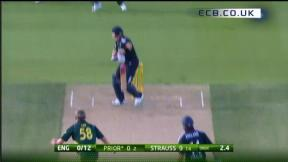 2nd ODI - Hobart - England innings