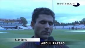Razzaq shines at Old Trafford