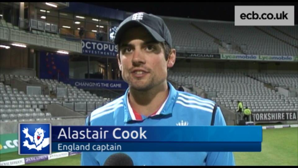 Cook disappointed with series defeat
