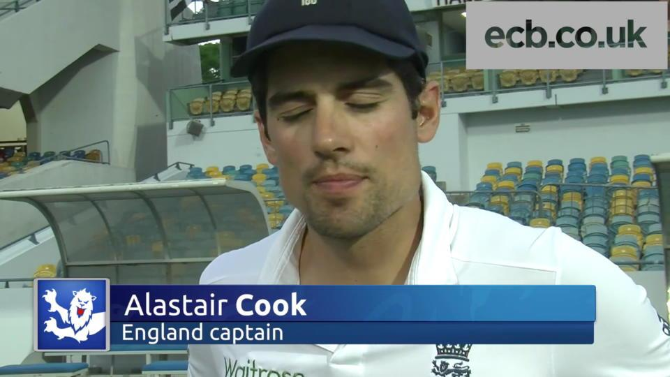 Batting cost us - Cook