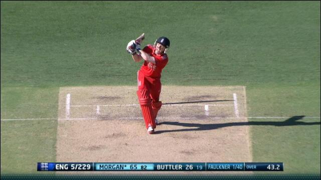 England v Australia: 2nd ODI, Brisbane - England innings