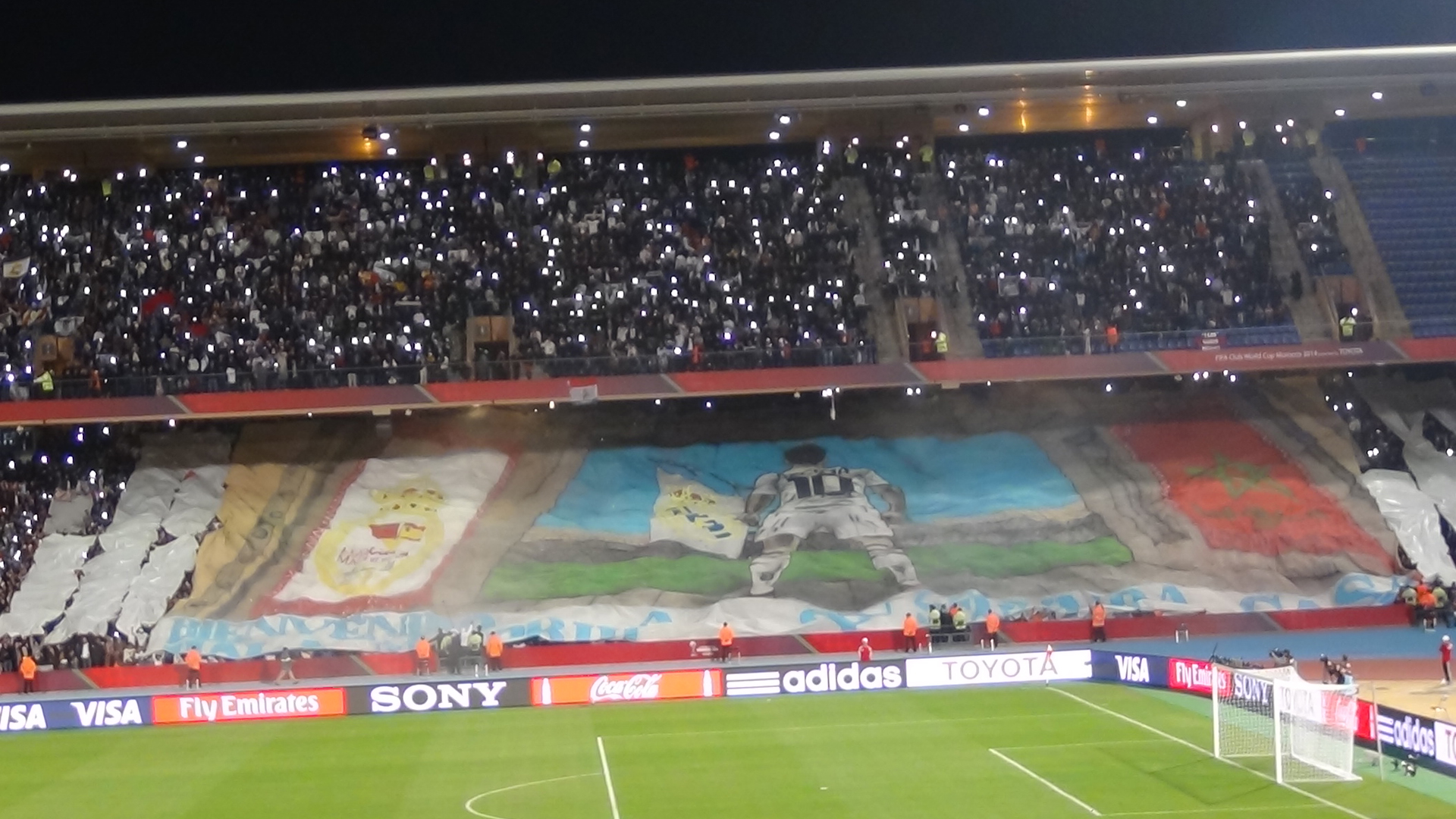 Real Madrid fans in Morocco Club World Cup 2014