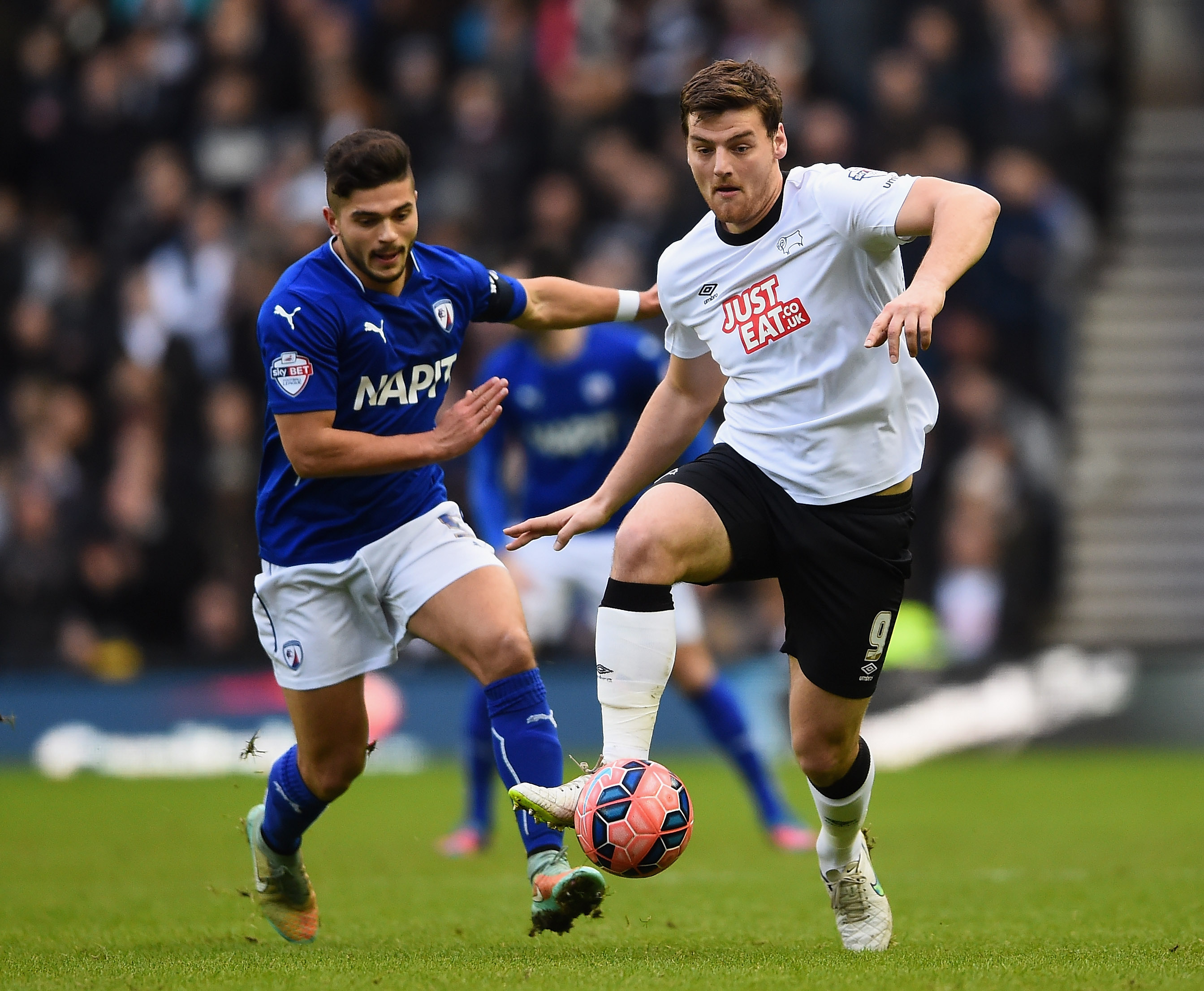 Chris Martin Derby County Sam Morsy Chesterfield