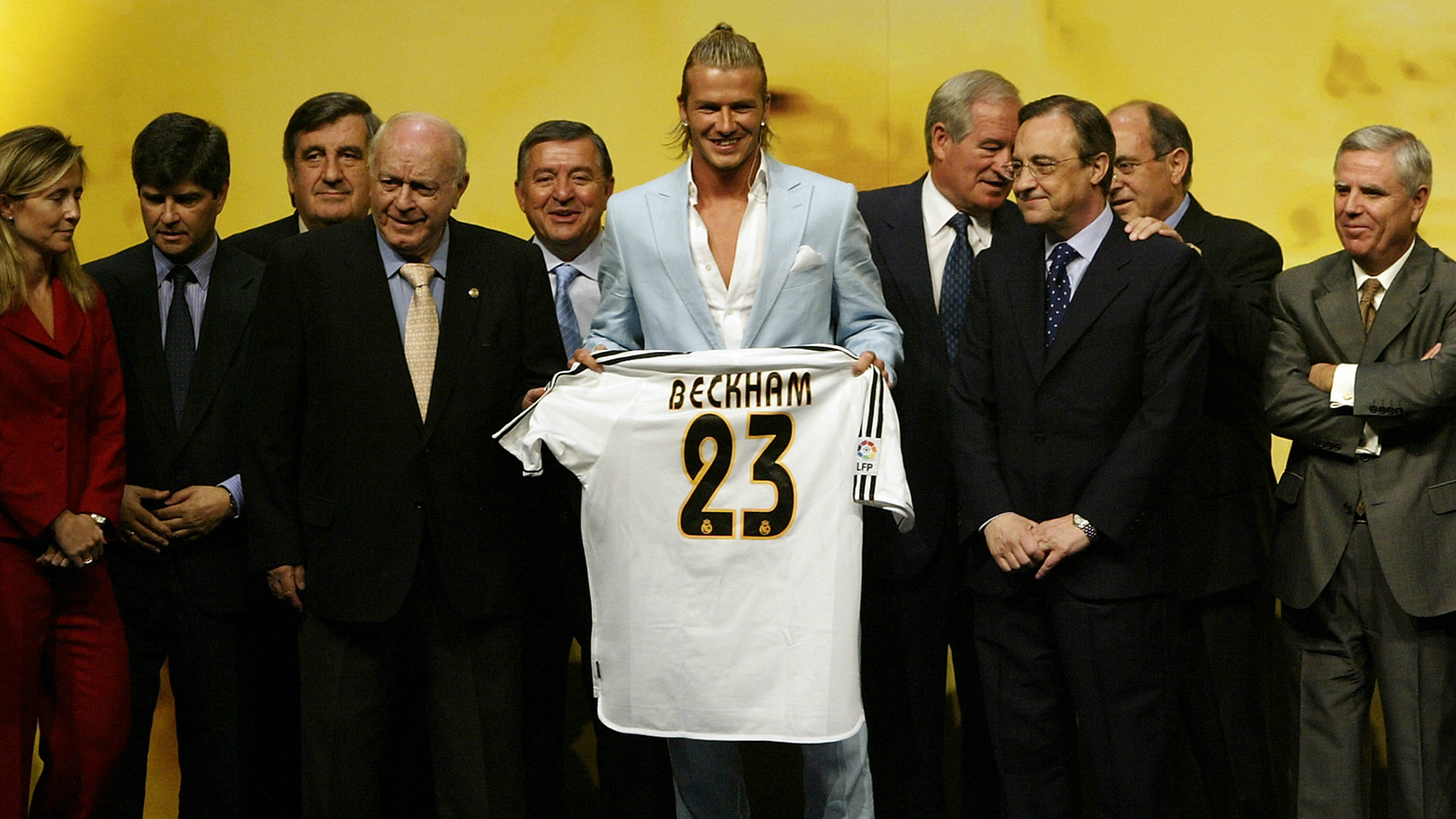 David Beckham Real Madrid official unveiling press conference 2003