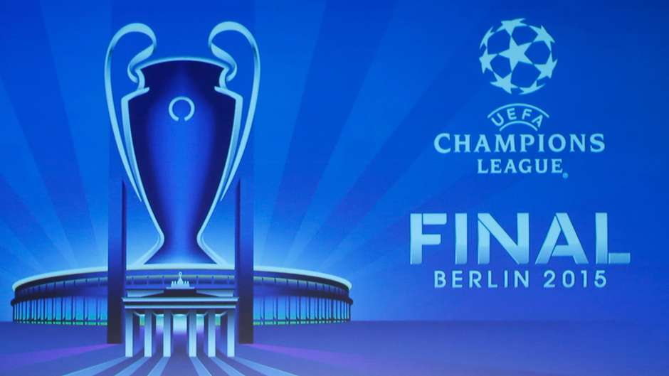 uefa champions league and trophy berlin final logo. Black Bedroom Furniture Sets. Home Design Ideas