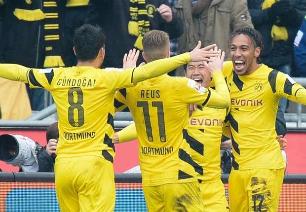 Dortmunder Jubel: Mit 3:2 siegte der BVB in Hannover
