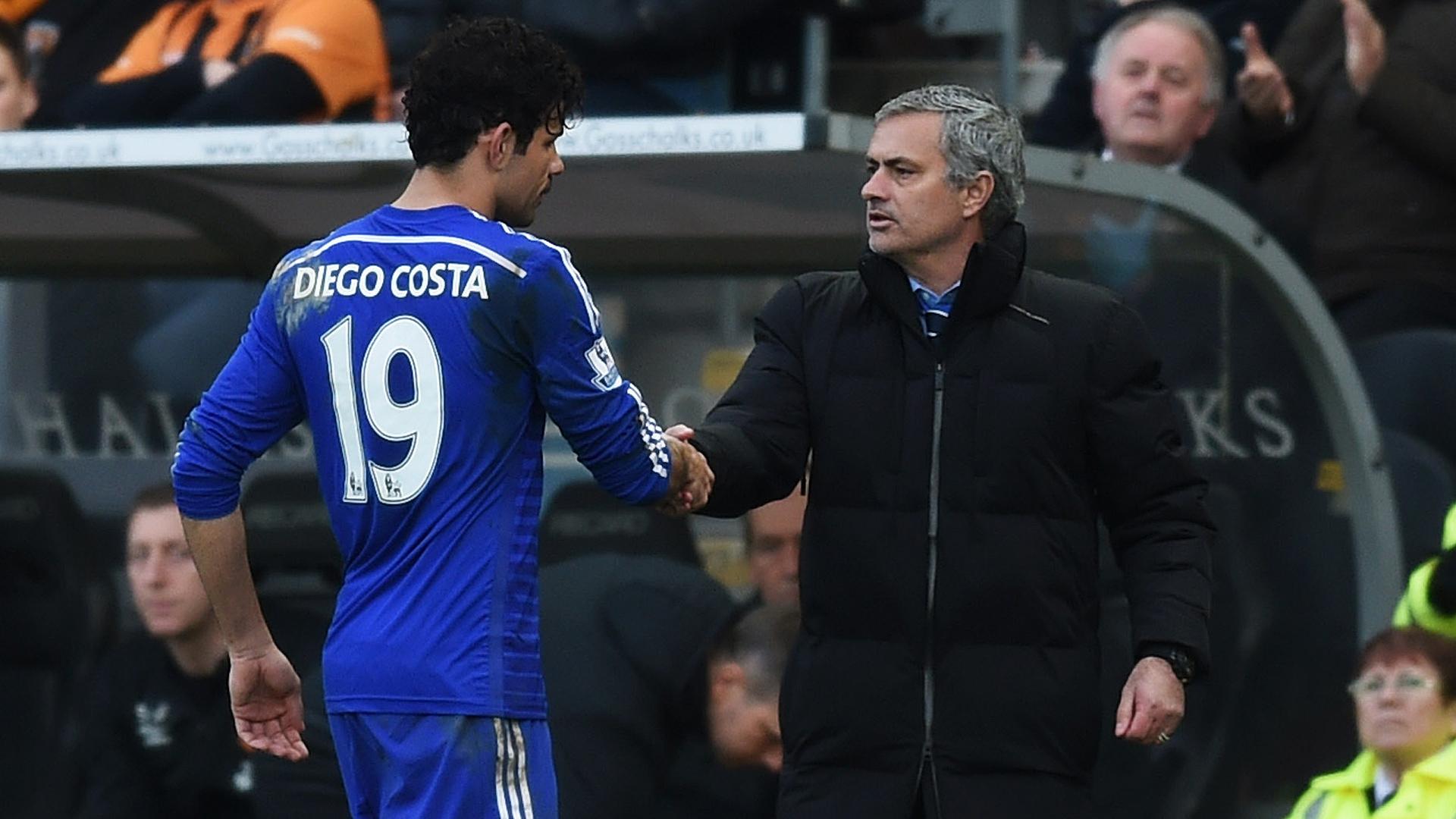 Jose Mourinho Diego Costa FC Chelsea 03222015