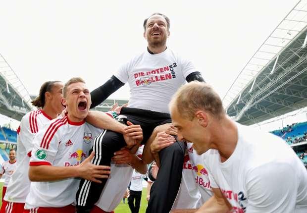 RB Leipzig feierte den Aufstieg - nun droht bereits vor der Saison der Abstieg