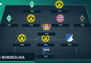 Gleich vier Dortmunder schaffen es in die Goal-Top-11. Außerdem dabei: eine Hoffenheimer Festung, ein Bayern-Youngster und zwei Bremer Schützenfest-Garanten.