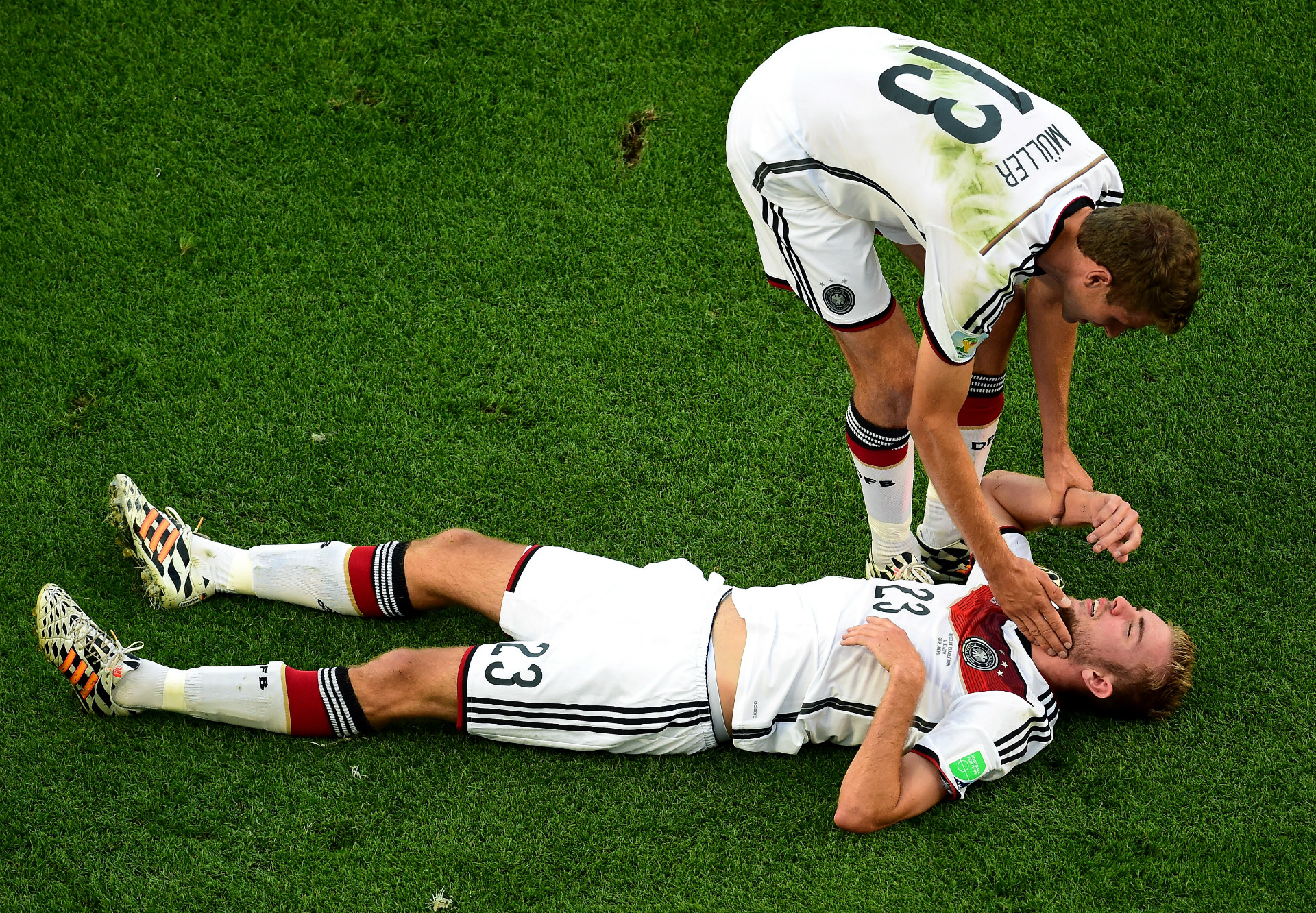 CHRISTOPH KRAMER THOMAS MULLER GERMANY 2014 WORLD CUP FINAL 07132014