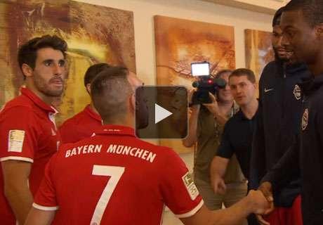 XXL-Spaß! Ribery & Co. treffen NBA-Stars