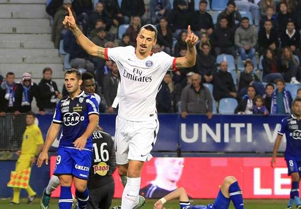 Erzielte im letzten Ligaspiel gegen Bastia einen Doppelpack: Zlatan Ibrahimovic
