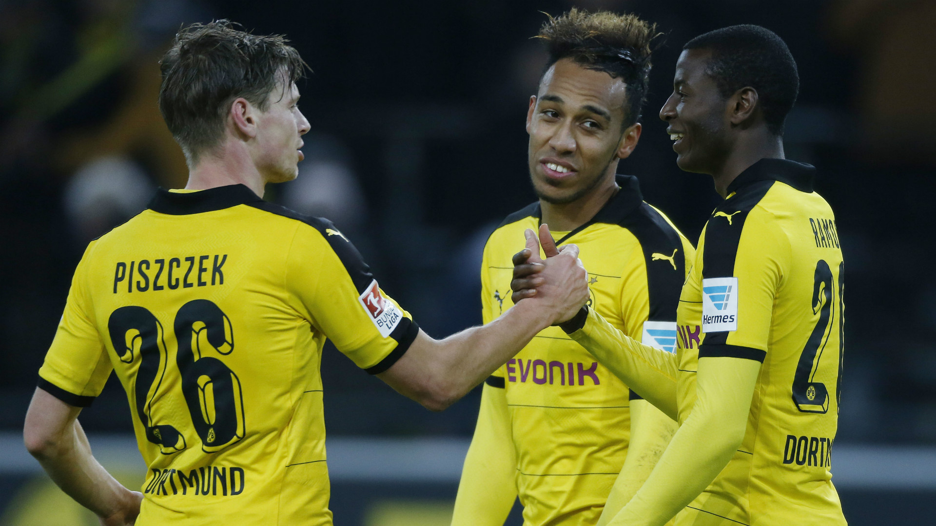 Lukasz Piszczek Adrian Ramos Pierre Emerick Aubameyang Borussia Dortmund