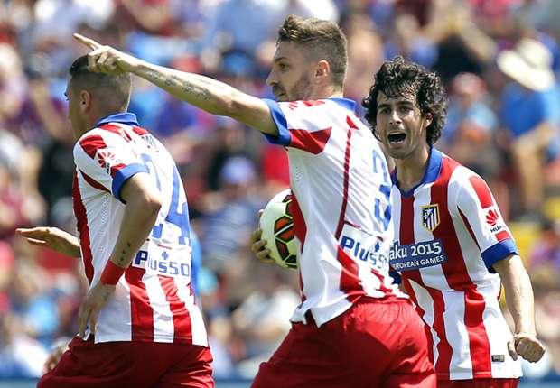 Guillherme Siqueira (m.) traf in der 35. zum 1:1-Ausgleich für Atletico
