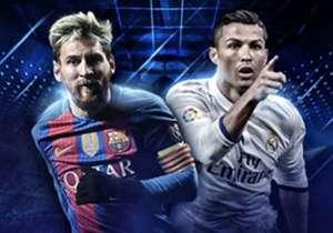 Kann Messi (l.) den Rekord von Ronaldo (r.) brechen?