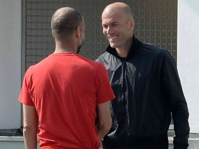 Zidane viajó a Múnich para aprender de Guardiola