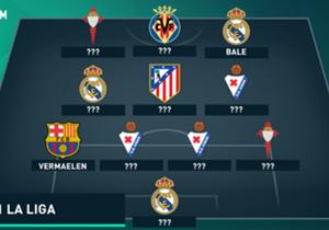 Der 5:0-Kantersieg von Real Madrid über Real Betis war eines der Highlights des 2. Spieltags in Spaniens Oberhaus. Gareth Bale traf dabei doppelt und verdiente sich einen Platz in unserer Top-11, ebenso wie der unverhoffte Barca-Held Thomas Vermaelen. ...