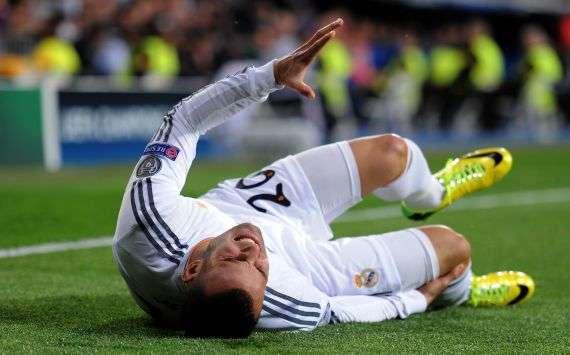 Jesé Rodríguez en el momento de su lesión de rodilla