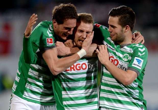 Greuther Fürth hat erfolgreich den zweiten Platz verteidigt